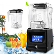 1.2L Automatic Blender Fruit Juicer Smoothie Ice Maker Mixer w/ Soundproof Cover