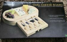 Occasion Oval Cheese Board With Integrated Drawer and 4 Specialist Cheese...