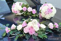 Set, Brautstrauss, Wurfstrauss und Autoschmuck, Hochzeit. Braut, zum Brautkleid