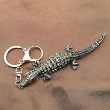 Lizard Gecko Crystal Rhinestone Pendant Bag Car Keychain Key Ring