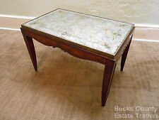 Maitland Smith Eglomise Glass Top Regency Directoire Style Coffee Table