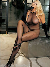 Plus Size Lingerie One Size Queen Black Halter Body Stocking SOHX90001