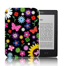 """Floral Mariposas E-reader caso para 6"" Amazon KINDLE 4 & 5 Cubierta De Neopreno UK"