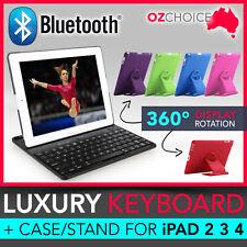 Luxury Wireless Bluetooth Keyboard + Case Apple iPad 2 3 4 360° Rotate Light