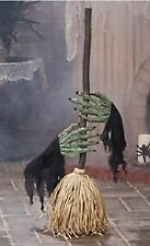Dancing Broom With Witch Hands Halloween Prop Holiday Creepy Scary Haunted NEW