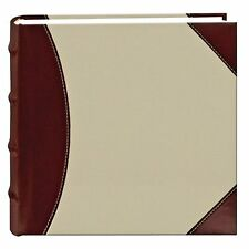 Pioneer High Capacity Sewn Fabric and Leatherette Cover Photo Album, Brown on...