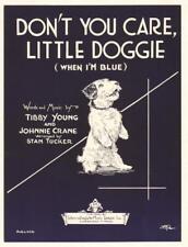 Don't You Care Little Doggie 1935 Scottie Scotty Dog Vintage Sheet Music Q18