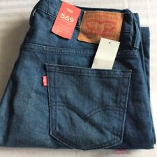 Levi's Men's New 569 0218 32x34 Herbaceous Blue Stretch Jeans Loose Straight Fit