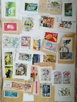 France lot of 30 used stamps on paper Free shipping
