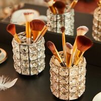 1PC Makeup Brush Holder Cosmetic Organizer Makeup Tool Crystal Storage Container