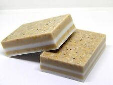 4 Bar Handmade Real Soap Scrub Body Face Natural product Rolled oats Honey Cocoa