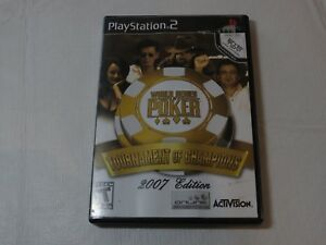 World Series of Poker: Tournament of Champions Sony PlayStation 2 PS2 2006 Teen