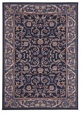 280x190cm Extra Large Floor Rug Traditional Persian Carpet Navy Blue