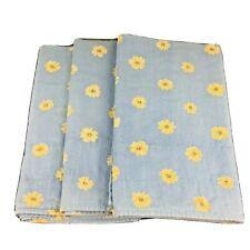 "3 Waverly Valances Floral Blue Yellow Daisy 80 X 18"""