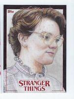 2018 Stranger Things sketch card Angel Aviles