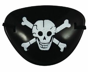 Captain Jack Child Pirate Eye Patch Skull And Crossbone Dress Costume Accssories