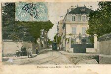 FONTENAY SOUS BOIS La rue du Parc Arrivée du Tramway Chien près du Boucher