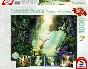 Schmidt Georgia Fellenberg Deer in the Forest  Jigsaw Puzzle (1000 Pieces)