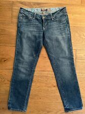 Paige Medium Wash Blue Venice Crop Capri Jeans Size 26