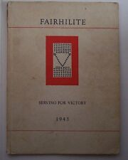1943 Fairfield High School Yearbook - The Fairhilite - Va Virginia Rockbridge