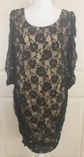 TORRID Black Lace Overlay Ruched Open Back Floral Bodycon Dress Plus Size 2