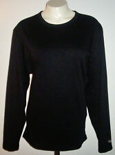 Duofold by Champion Athletic Shirt Size Med Black Blouse L/S Active Wear Top