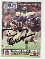 DAN CROSSMAN LONDON MONARCHS WORLD LEAGUE AUTOGRAPHED FOOTBALL CARD