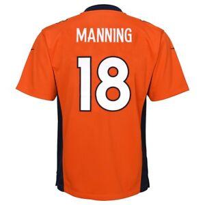Peyton Manning Denver Broncos Nike Home Orange Game Jersey Youth (S-XL)