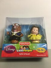 Fisher-Price Little People Disney Belle and Beast -2 Figure Rare Set - NEW