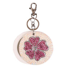 New Fashion Women's Accessories Flower Metal Slide Mirror Key Chain Gift For Her