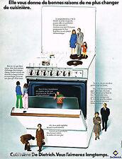 PUBLICITE ADVERTISING 055  1973  DE DIETRICH   cuisinière