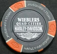 Wieblers Harley-Davidson® in Davenport, Ia Collector Poker Chip Black/Orange New