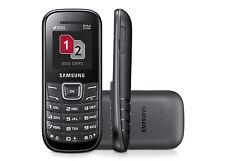 Samsung GT-E1207Y DUAL SIM Keystone 2-nero (sbloccato) nuovo di zecca (utilizzare qualsiasi SIM)