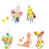 Kid Baby Plush Animal Stroller Bed Hanging Toy Stuffed Handbell Rattle Toys Gift