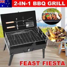 Outdoor Foldable Roast BBQ Charcoal Grill Portable Barbecue Camping Picnic