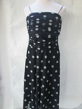 Eliza J Dress Navy Polka Dot Mesh Shell Fully Lined Party Cocktail 14W NWT