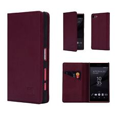 32nd Classic Series - Real Leather Book Wallet Case for Sony Xperia XZ Premium Sny.xzprem.32ndclassic-burgundy Burgundy