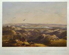 Bodmer: Originale altkol. Acquatinta Yellowstone River North Dakota USA; 1839