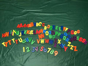 Lot 94 Vintage Plastic magnetic Letters Alphabet & Numbers Fisher Price