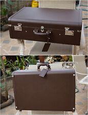 NEW $3600 PRADA Jumbo XL Trunk Travel Hand Bag Case White Leather Caffe BROWN