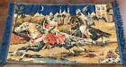 "Vintage ARABIAN NIGHTS Velvet Tapestry 43"" x 25"" Man Cave, Bar."