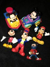 Lot Disney Mickey Mouse Wind Up Car~Boat~PVC Cake Top Figure Toys