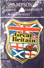 Sampson's Great Britain Metallic Car Sticker Souvenir