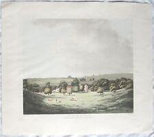 Original 19th C Colored Engraving Lullingstone Castle In Kent J G Wood Wm Green