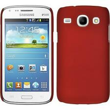 Hardcase Samsung Galaxy Core rubberized red Cover + protective foils