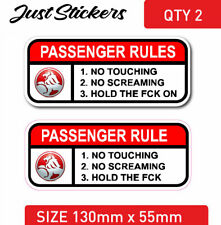 Funny Passenger Rules Holden warning sticker Car-sticker--bumper-sticker-,-skate