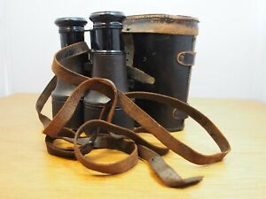 Stunning Original Vintage Lemaire Fabi Paris Field Binoculars & Leather Case