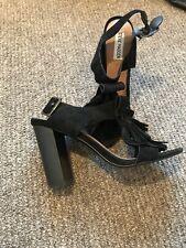 Steve Madden Black Chunky Heeled Sandal - Black Ladies Sandal - Size 6 UK / 8 US