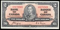 1937 Bank of Canada $2 Note - Coyne Towers - Extremely Fine - C/R 0170565 - CE73