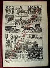 Document Ancienne planche Poste, aeropostale, facteurs,tri postal   1922
